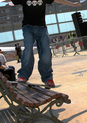 skateboard on bank