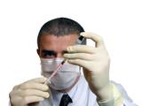 doc filling a syringe poster