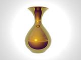 gold vase poster