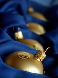 gold christmas balls poster