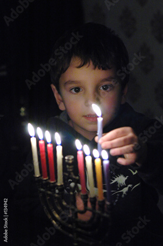 p.j. with menorah - 134942