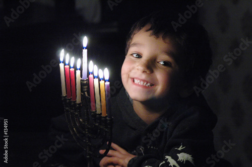 p.j. with menorah - 134951