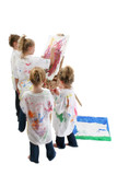 children painting poster