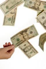 plucking cash