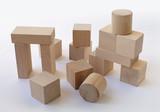 wooden building blocks poster