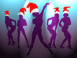 dance of sexy girls for christmas