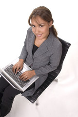 woman exec with laptop