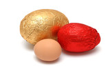 choc or real eggs poster