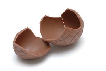 chocolate egg (cracked)