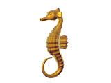 gold seahorse poster