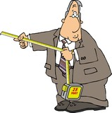 businessman with a tape measure poster