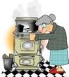 old lady cooking