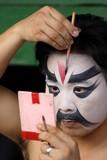 opera performer in makeup. poster