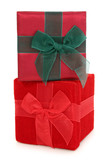 fabric gift boxes stacked poster