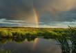 the evening rainbow.