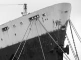 ship at harbor poster