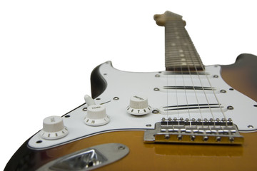 blade humbucker electric guitar, focused on bridge