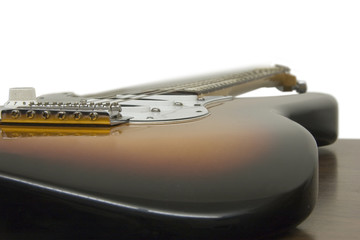 guitar shape at an angle, focused at tremolo