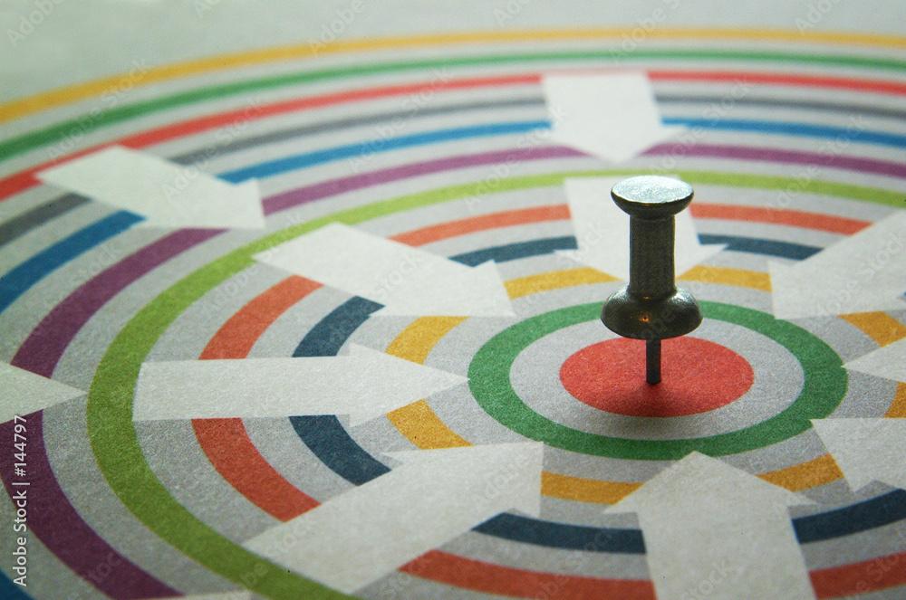 strzałka biznes koło - powiększenie