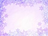 snowflakes frame poster