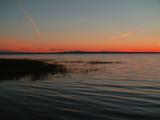lake champlain mountains at sunset poster