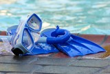 stock photo of pool toys poster