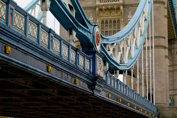 tower bridge, london, unusual long detail view