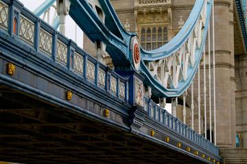 tower bridge, london, unusual long detail view