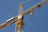 construction crane detail poster