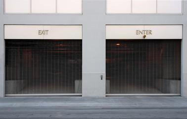 exit and enter car ports