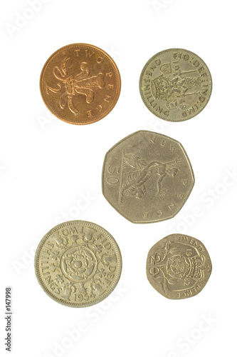 poster of five english coins 2