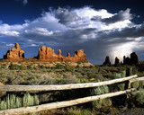 stormy skies over arches