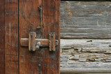 rustic door latch poster