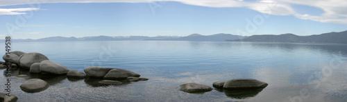 Leinwandbild Motiv mountain lake panorama #2