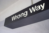 wrong way sign poster