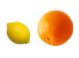orange and lemon poster