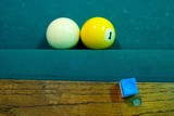 one ball touching cue ball poster