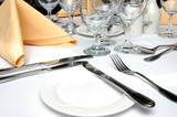 formal dinner setting poster