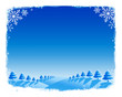 winter scene, christmas card