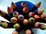 pencils colors  line poster