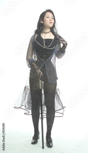 girl standing in gothic clothes