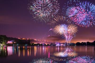feux sur le lac