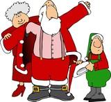 helping santa get dressed poster