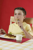 child eating food poster