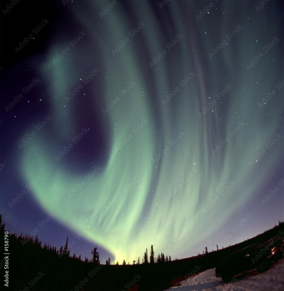 atmosfera aurora niebiański - powiększenie