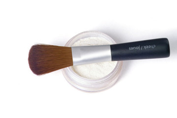 brush over powder