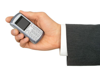 hand holding a cell phone