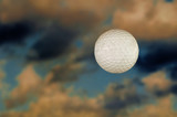 golf ball in the sky poster