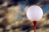 golf ball on tee poster