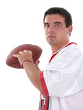 stock photography: attractive young man in footbal poster